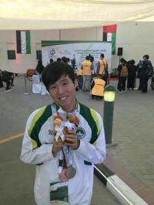 恭賀職一愛林哲偉同學奪2017亞洲青年殘疾人運動會100米蝶泳銀牌及背泳銅牌