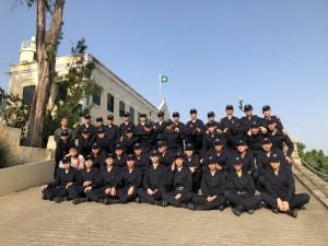武術課程全體學生與帶隊老師合照